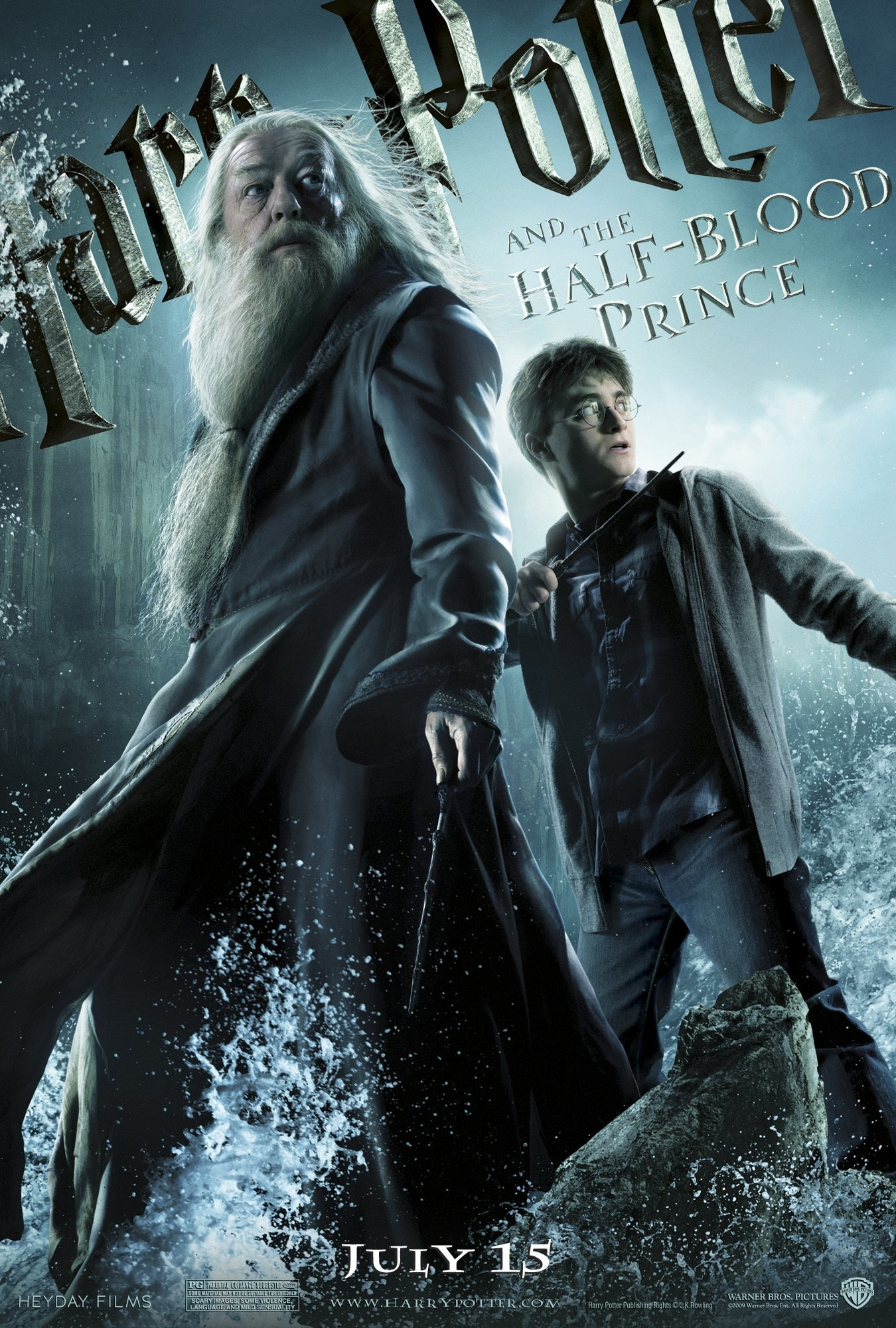 'Half-Blood Prince' Dumbledore & Harry poster