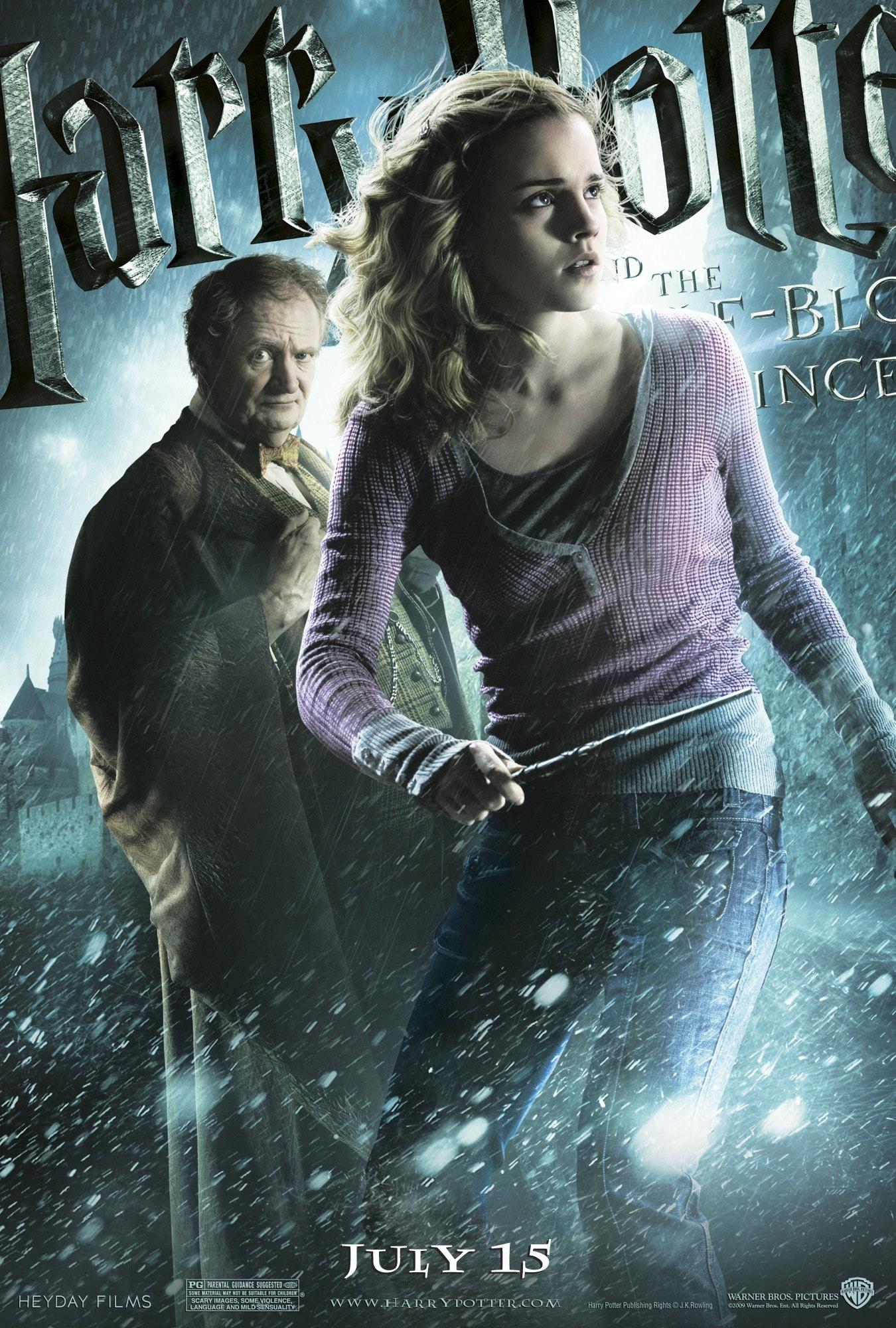 'Half-Blood Prince' Hermione & Slughorn poster