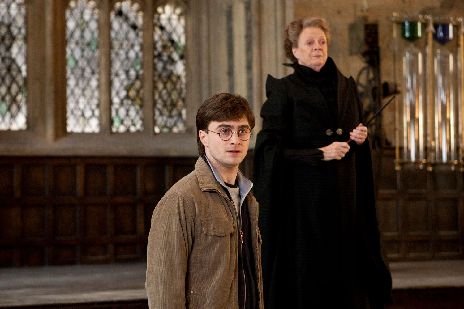 Harry and McGonagall in the Great Hall