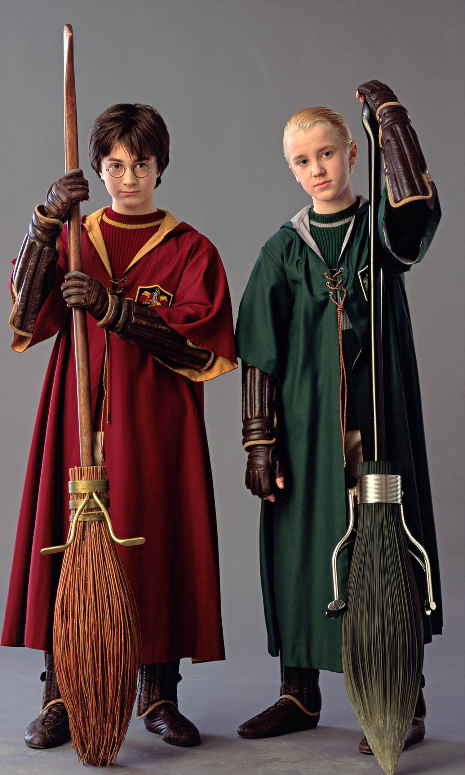 Portrait of Harry and Draco in Quidditch robes