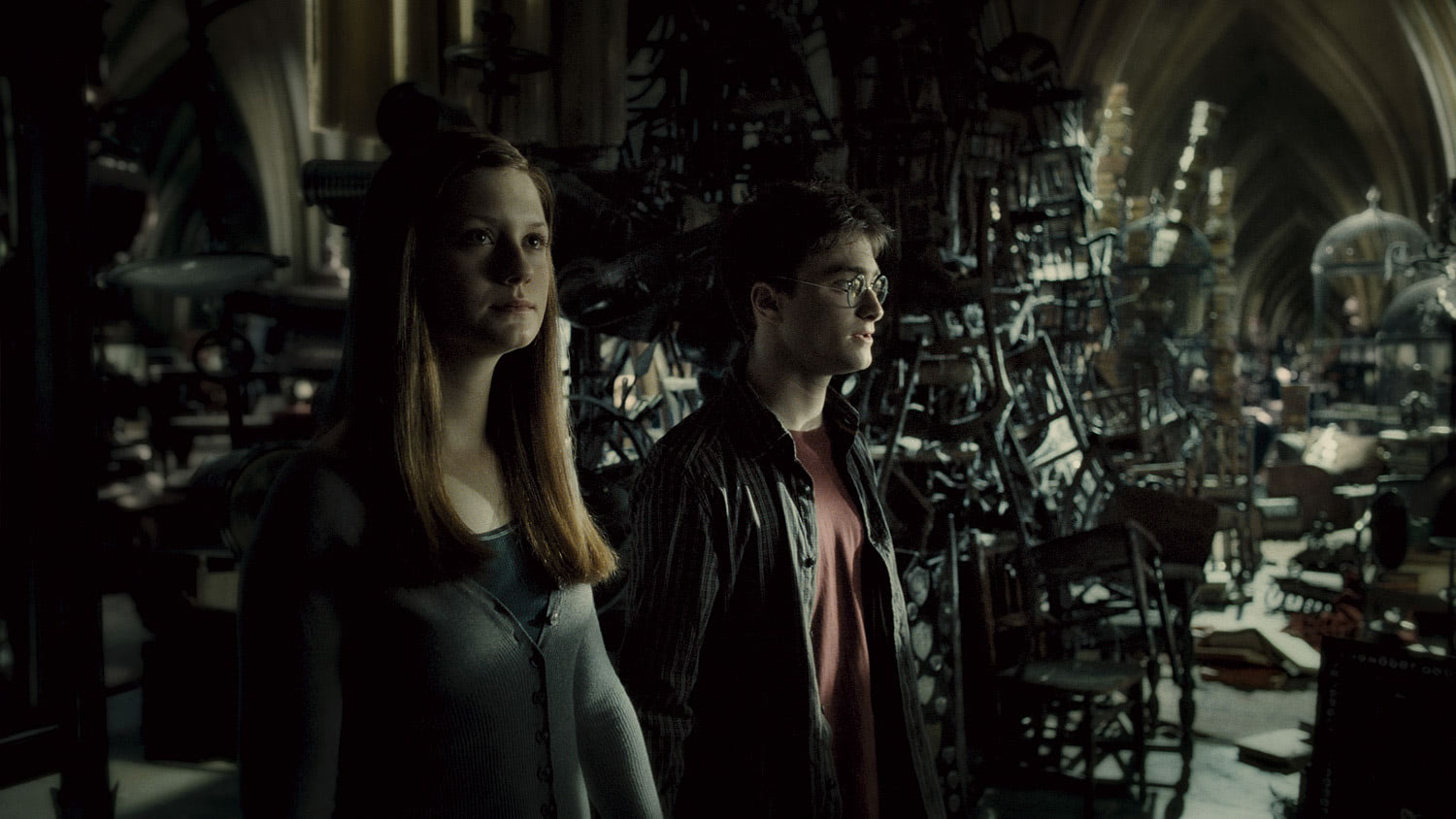 Harry and Ginny in the Room of Requirement