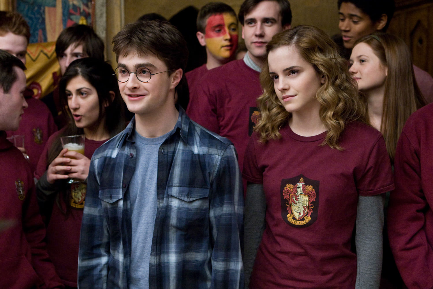 Harry and Hermione after Quidditch