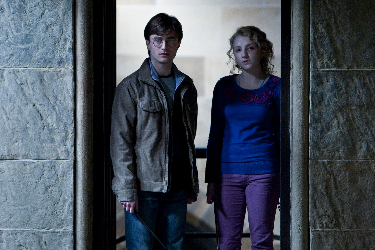 Harry and Luna at Hogwarts