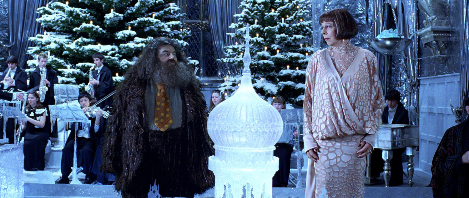 Hagrid and Madame Maxime at the Yule Ball