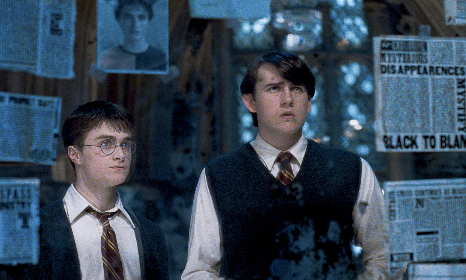 Harry and Neville in the Room of Requirement