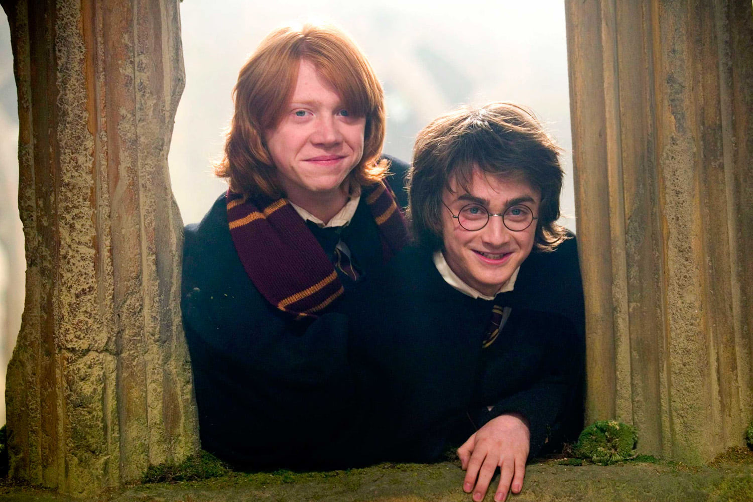 Harry and Ron smiling
