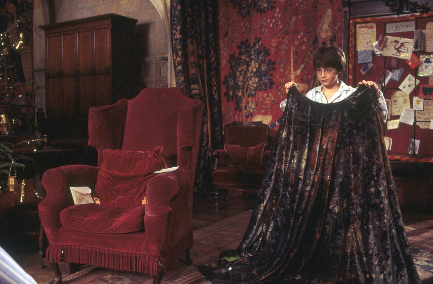 Harry and the invisibility cloak