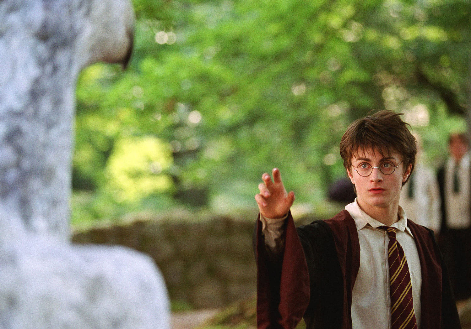 Harry approaches Buckbeak