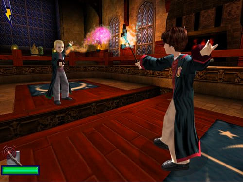 Harry and Draco duel (Chamber of Secrets video game)