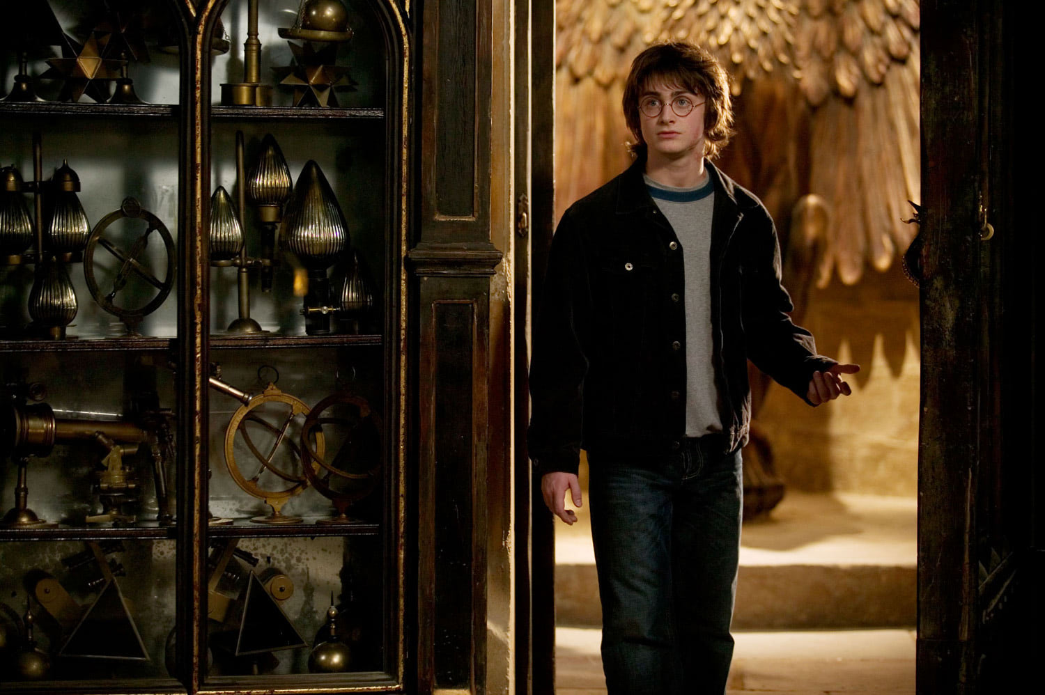 Harry enters Dumbledore's office