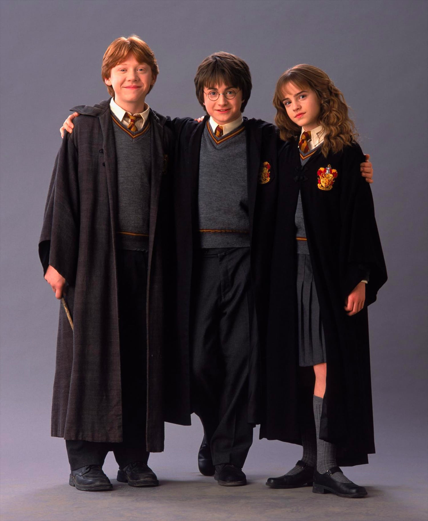 Portrait of Ron Weasley, Harry Potter and Hermione Granger