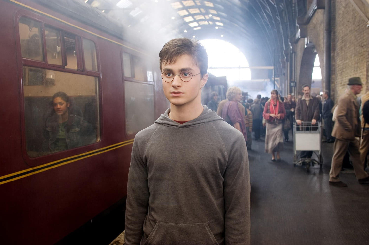 Harry in King's Cross Station