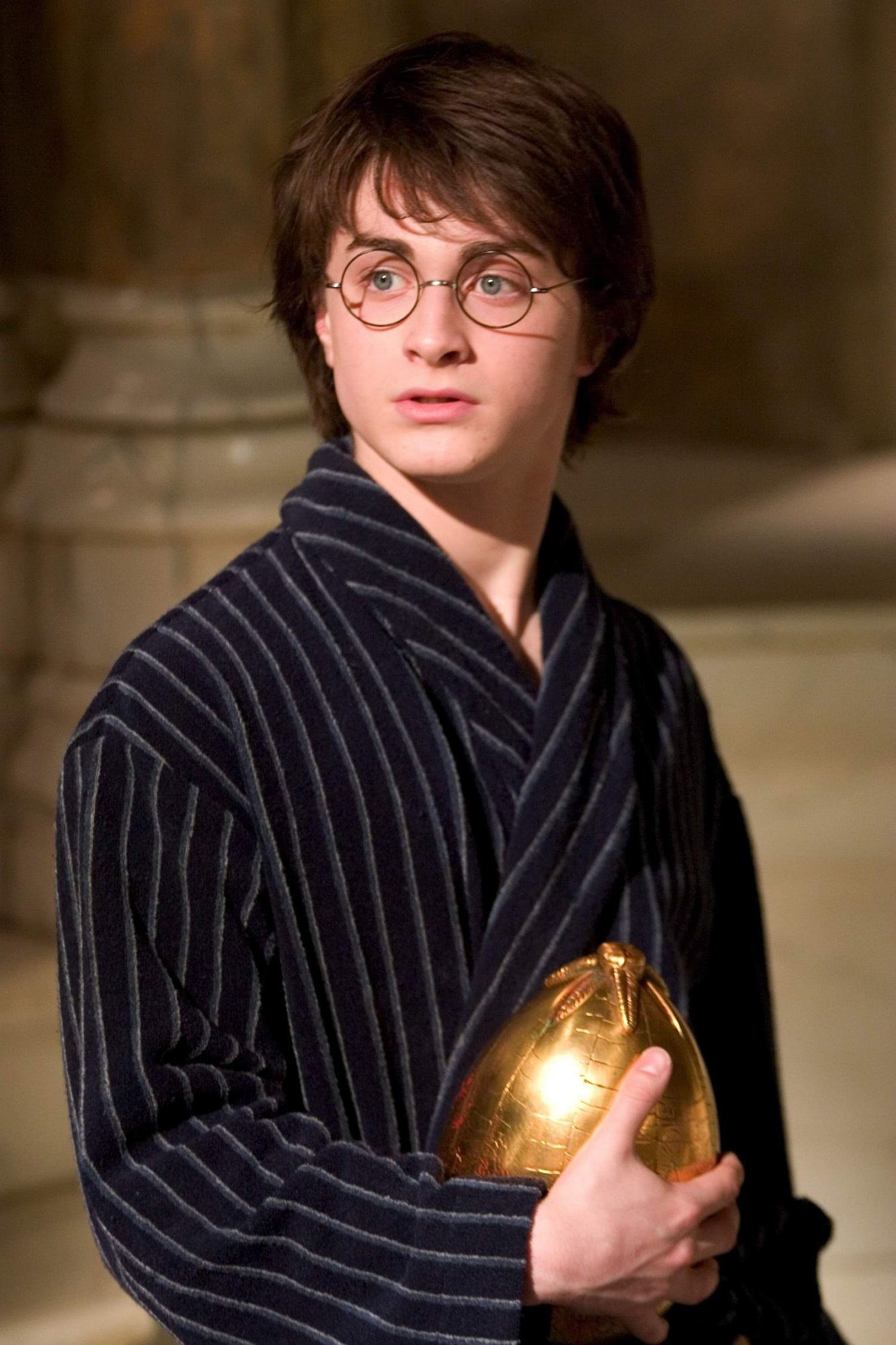Harry with the golden egg