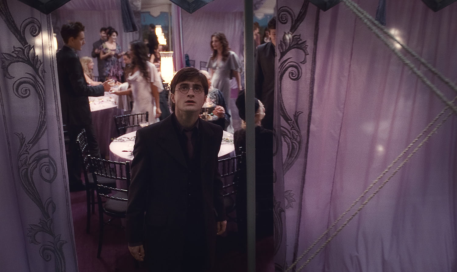 Harry in the wedding tent