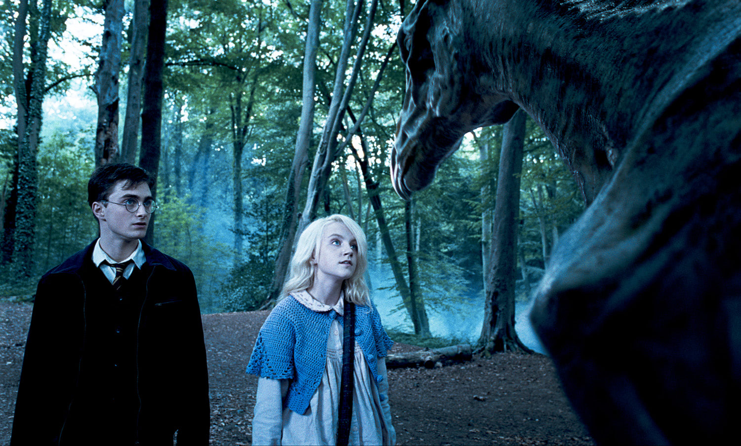 Harry, Luna and a Thestral