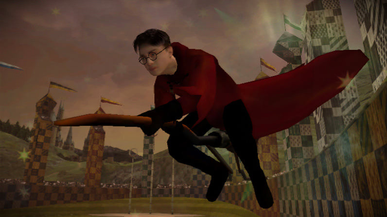 Harry on his broom (Half-Blood Prince video game)