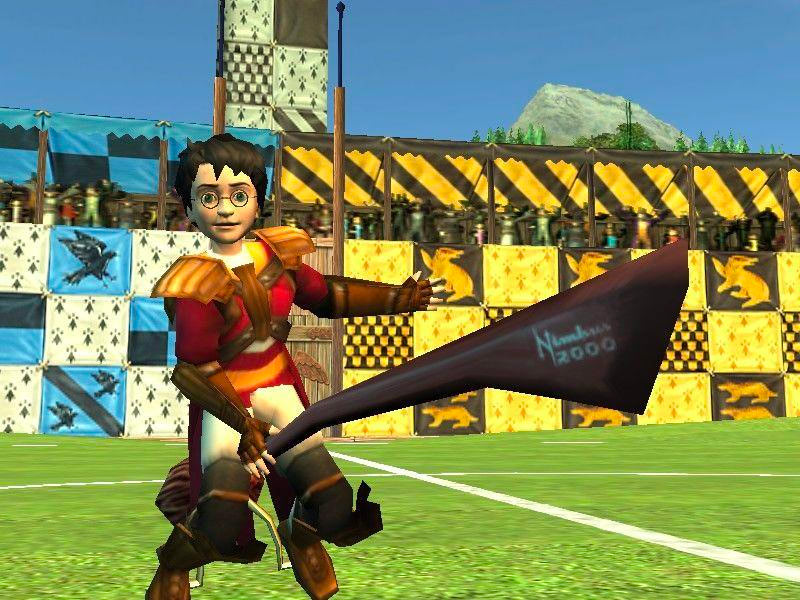 Harry on his broom (Quidditch World Cup video game)