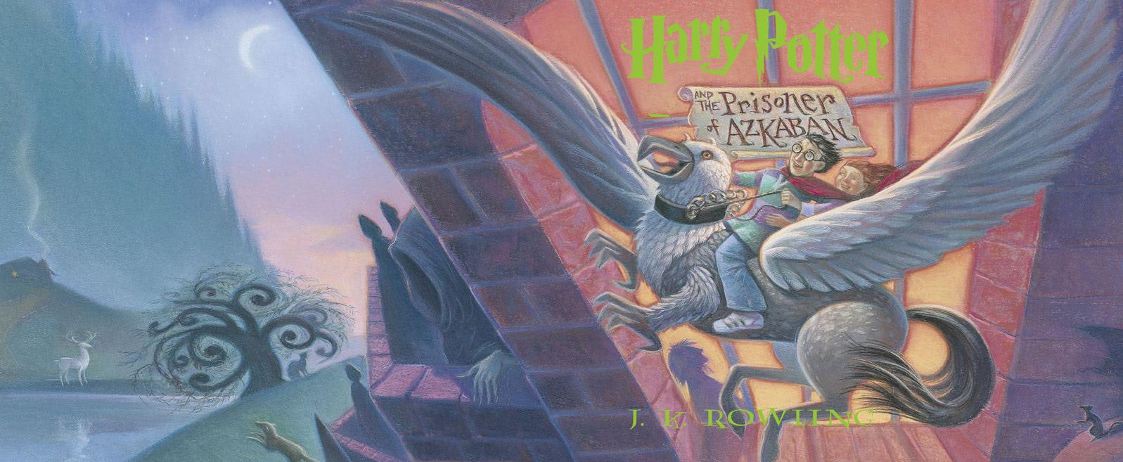 'Prisoner of Azkaban' full jacket artwork