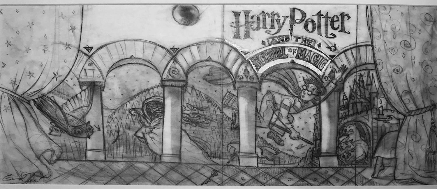 'Harry Potter and the School of Magic' (Mary GrandPré early sketch)
