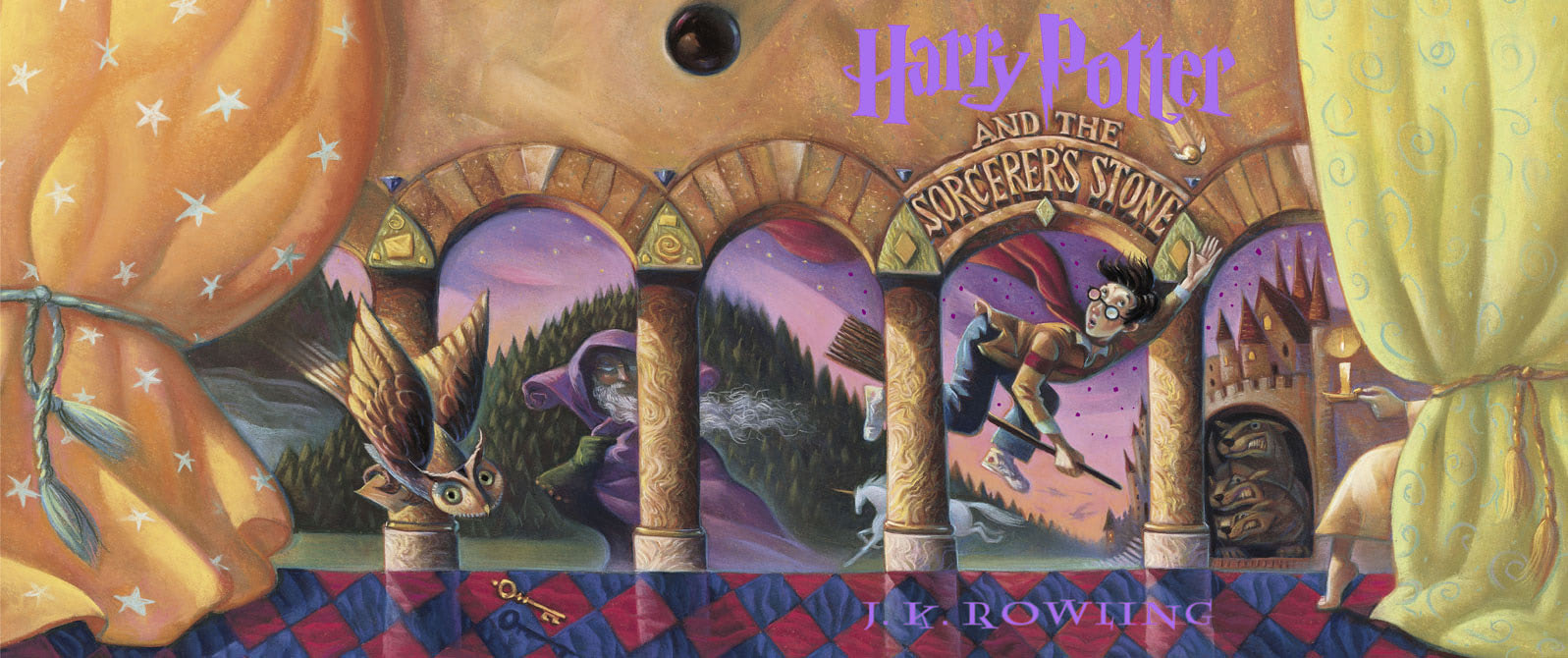 'Sorcerer's Stone' full jacket artwork
