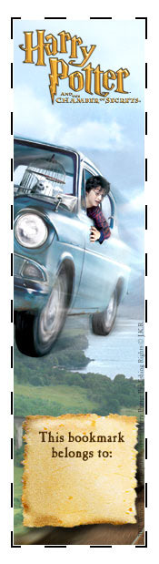 Flying car bookmark