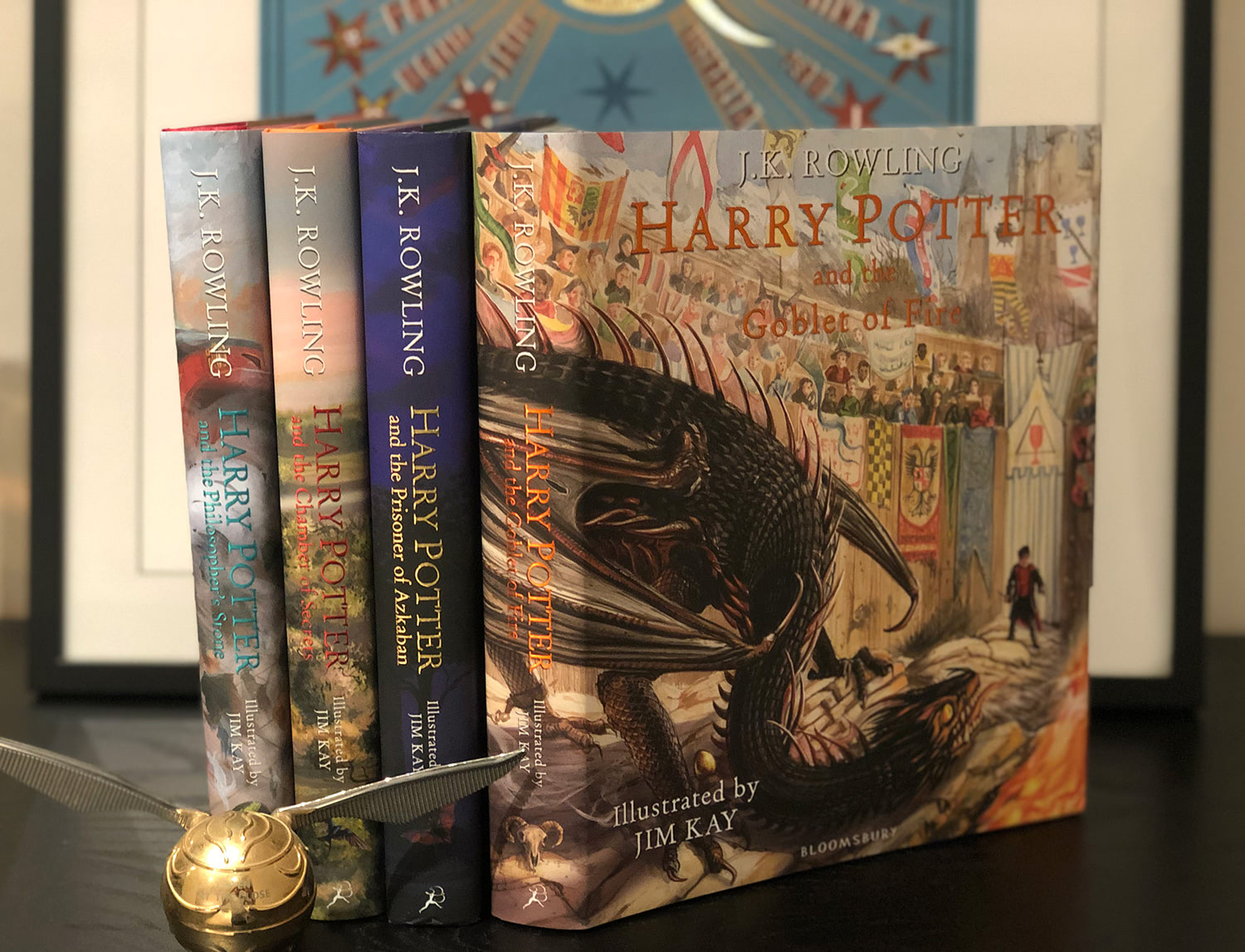 'Goblet of Fire' illustrated edition spine