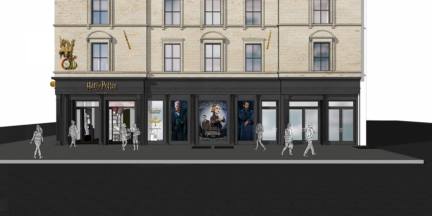 'Harry Potter' New York flagship store concept art
