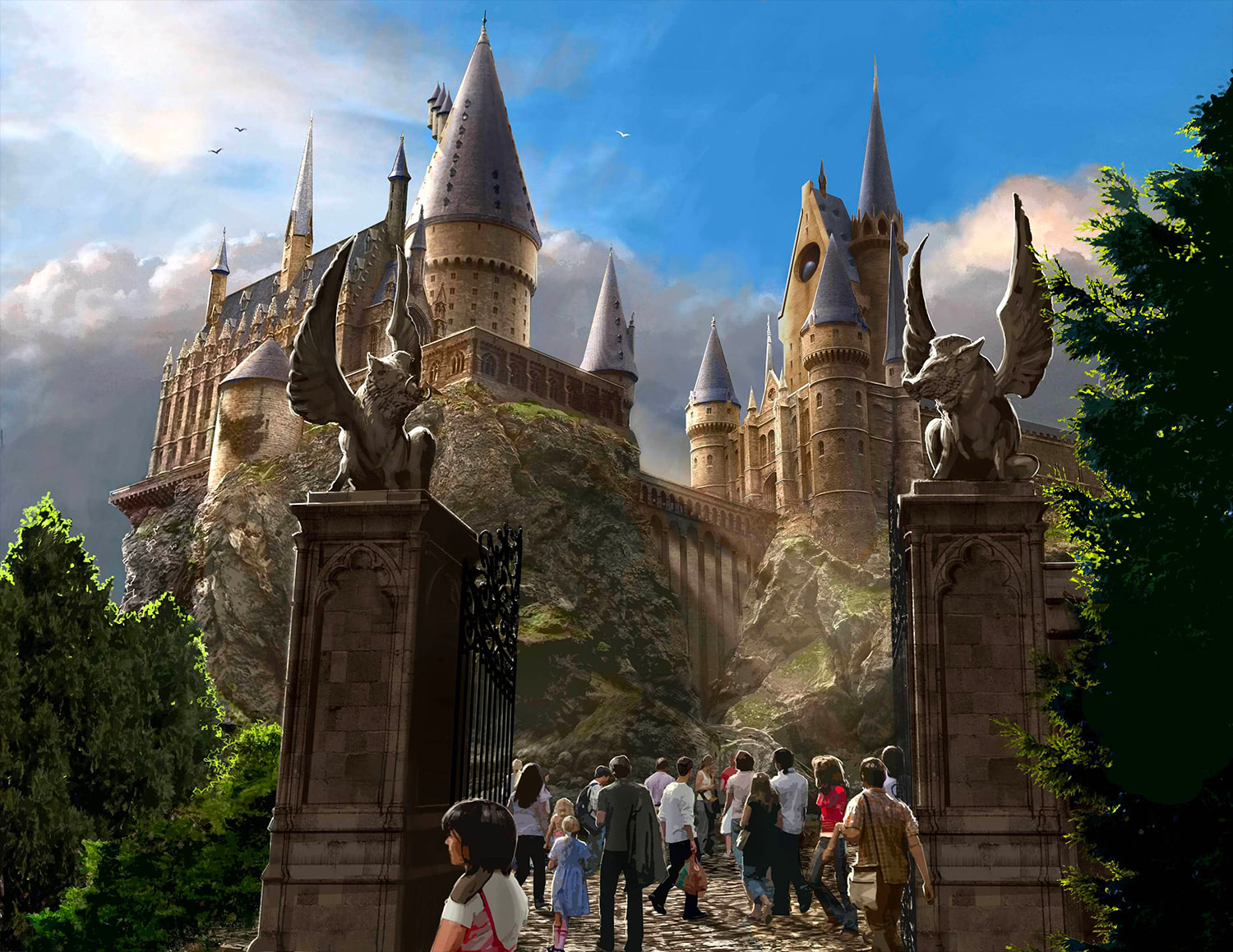'Harry Potter' theme park concept art