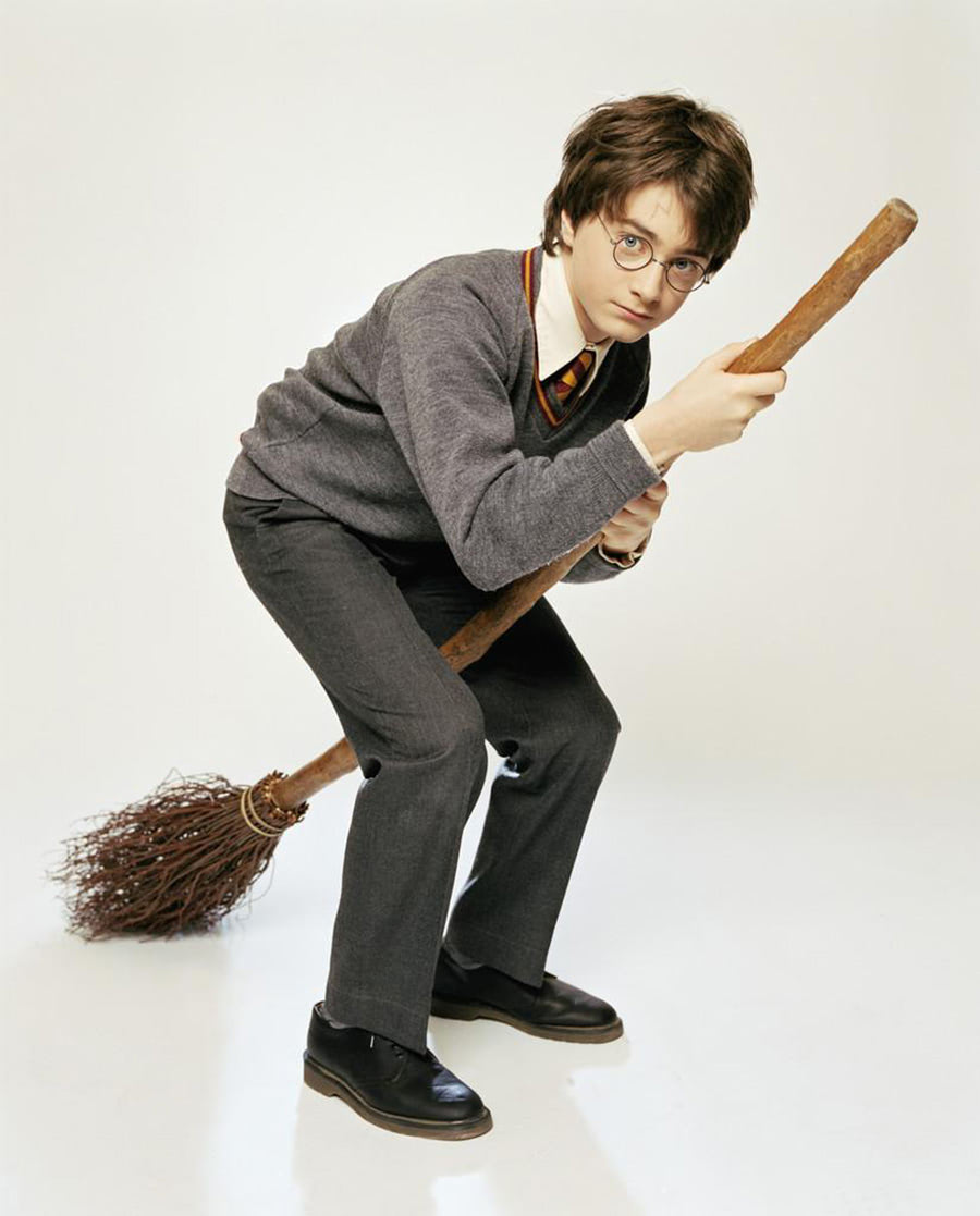 Portrait of Harry Potter on his broom