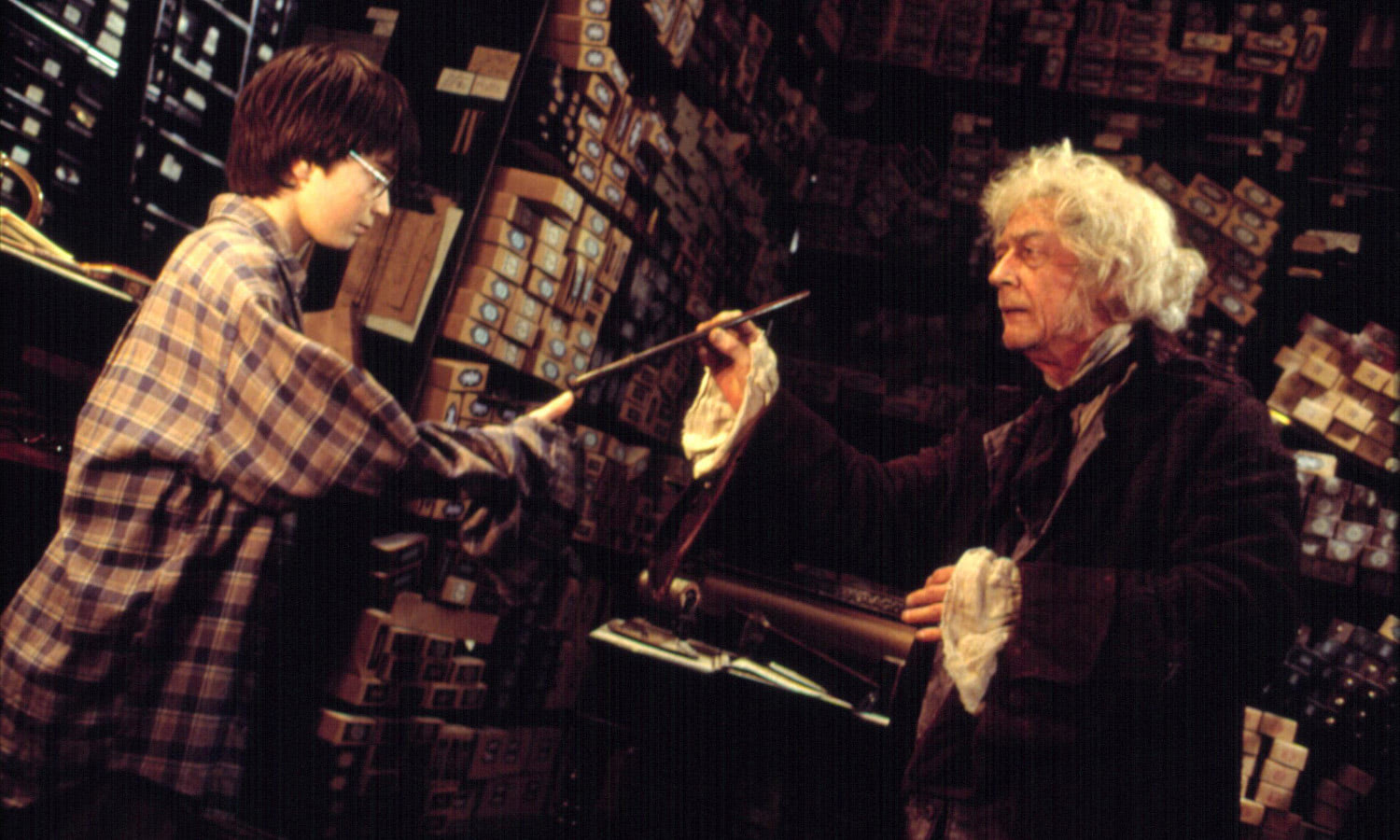 Harry receives his wand