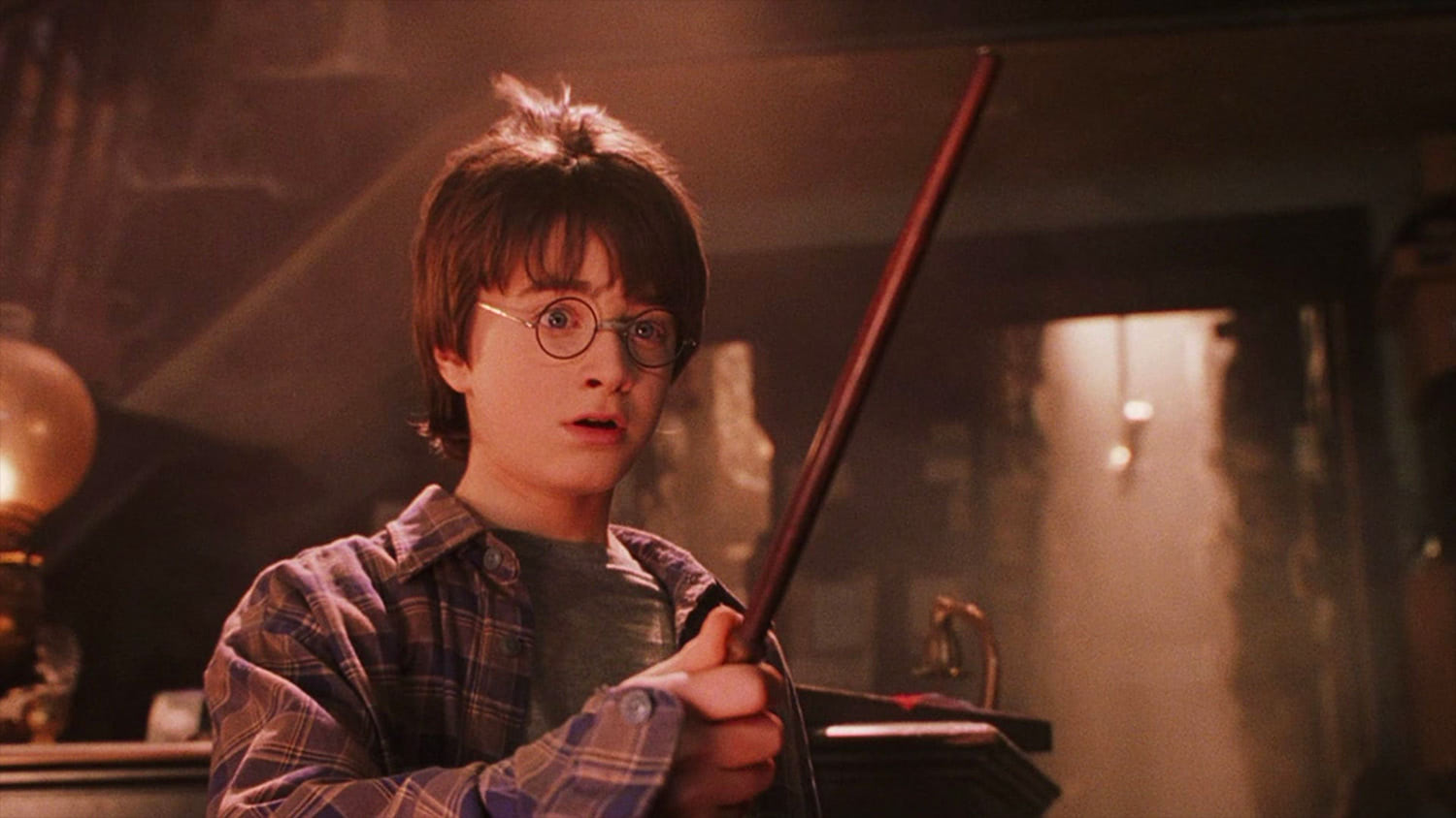 Harry tries out his wand