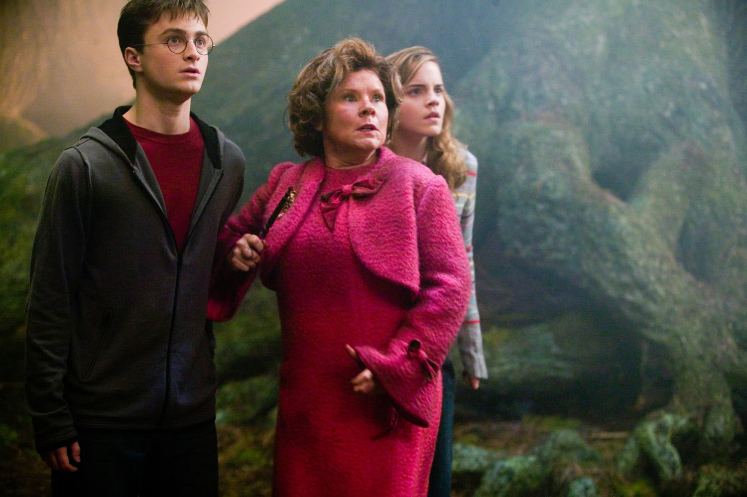 Harry, Umbridge and Hermione in the Forbidden Forest