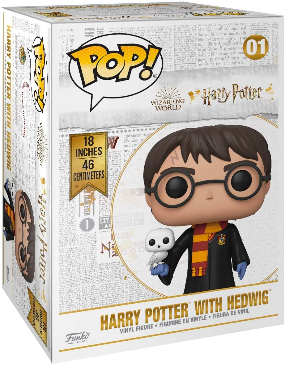 A (super) super sized Funko version of Harry and Hedwig is coming in July.