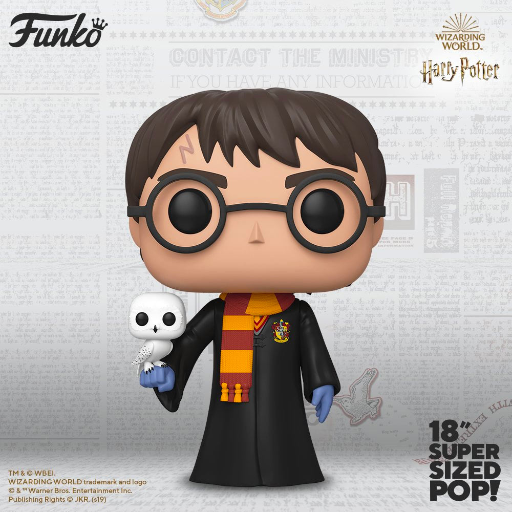 Harry Potter (With Hedwig) (18″ Super Sized Pop)