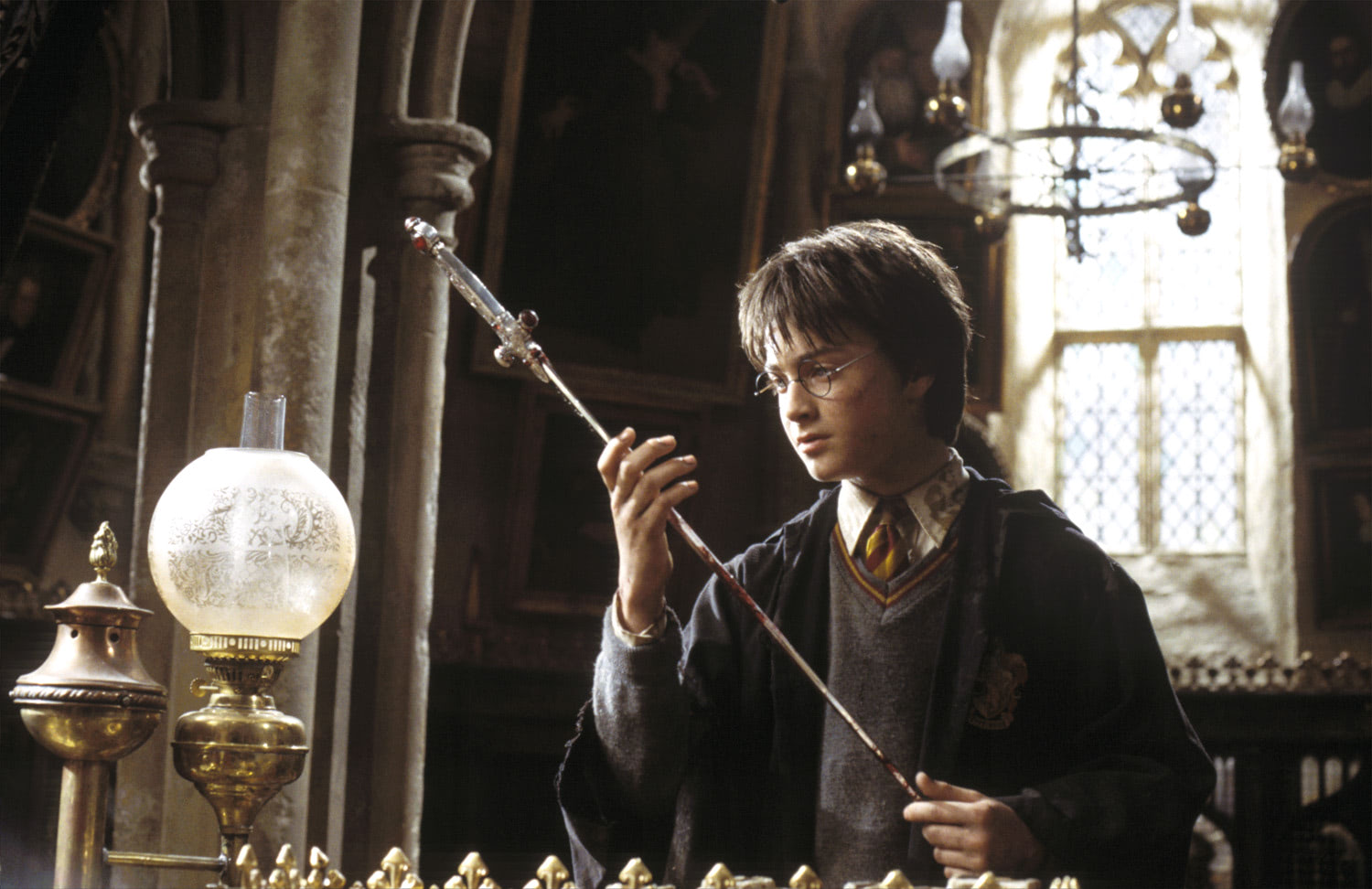 Harry with the Sword of Gryffindor