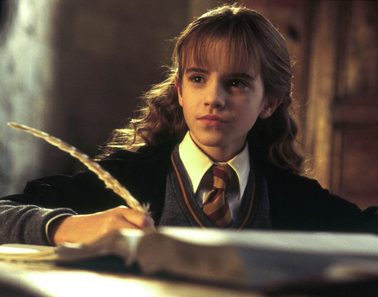 Hermione completing homework