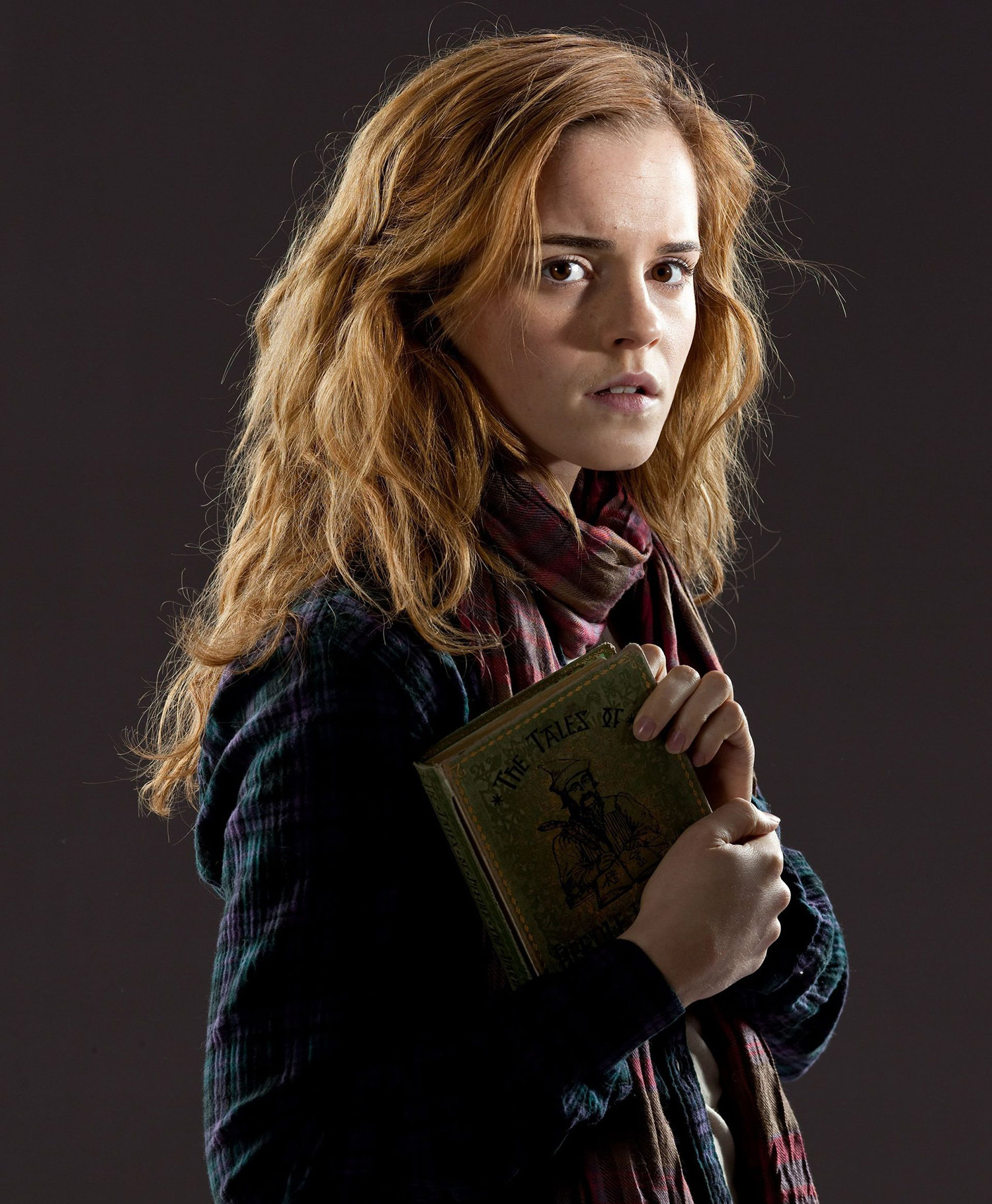 Hermione Granger with 'Beedle the Bard'