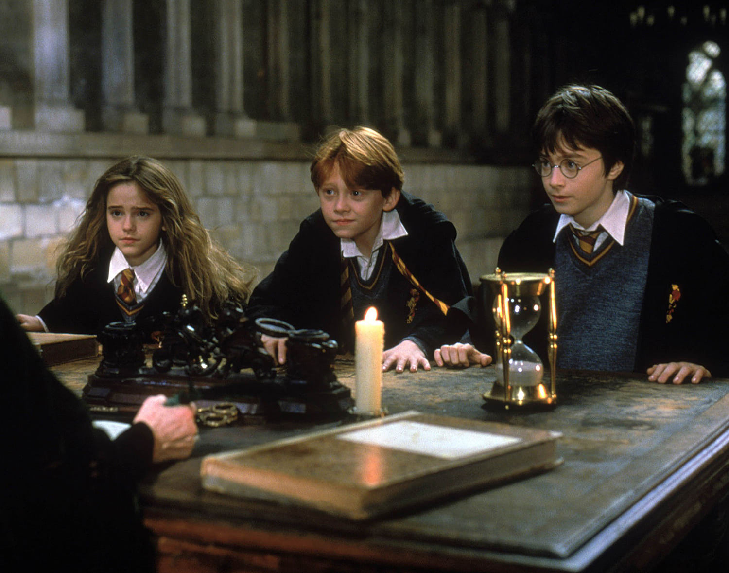 Hermione, Ron and Harry speak with Professor McGonagall