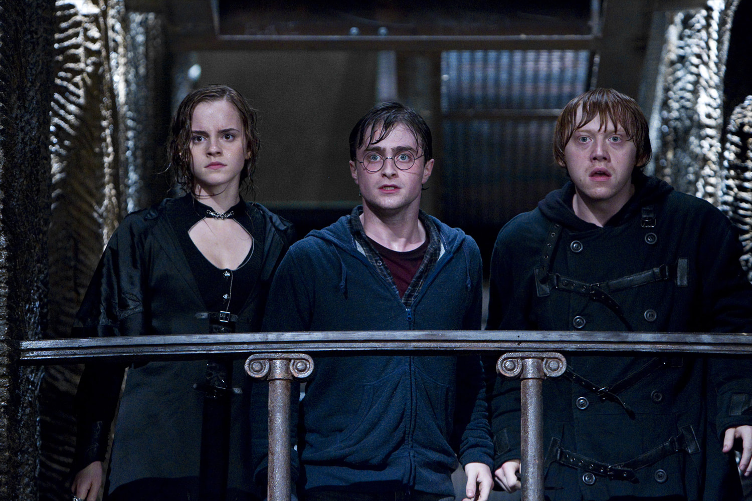 Hermione, Harry and Ron during the Gringotts Break-In