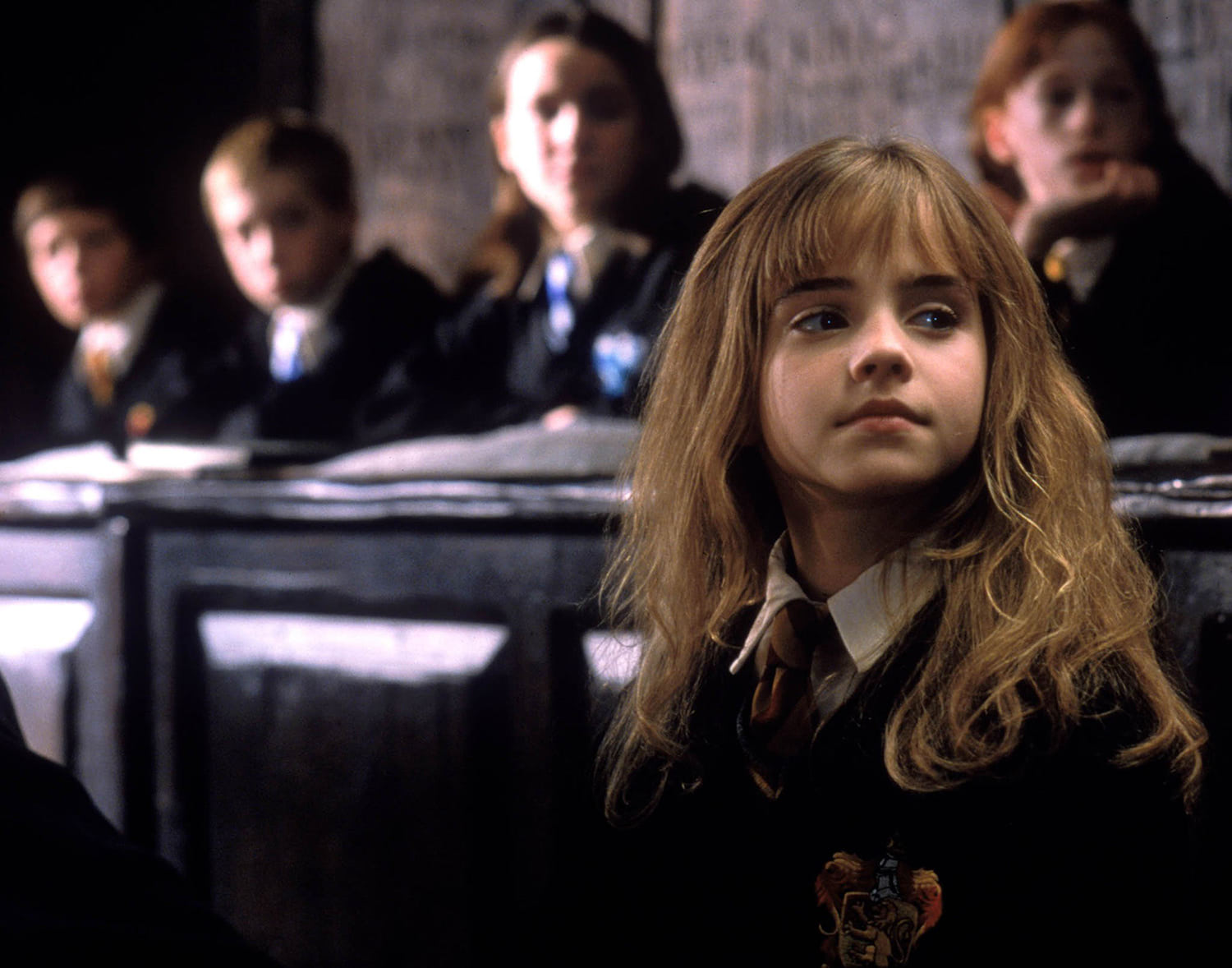 Hermione in Charms class