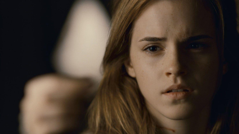 Hermione looks pensive