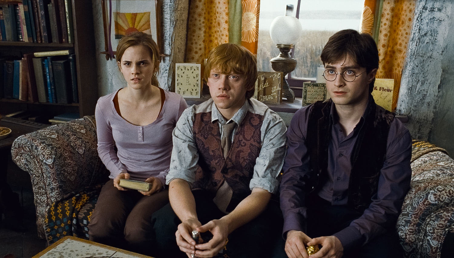 Hermione, Ron and Harry addressed by Scrimgeour
