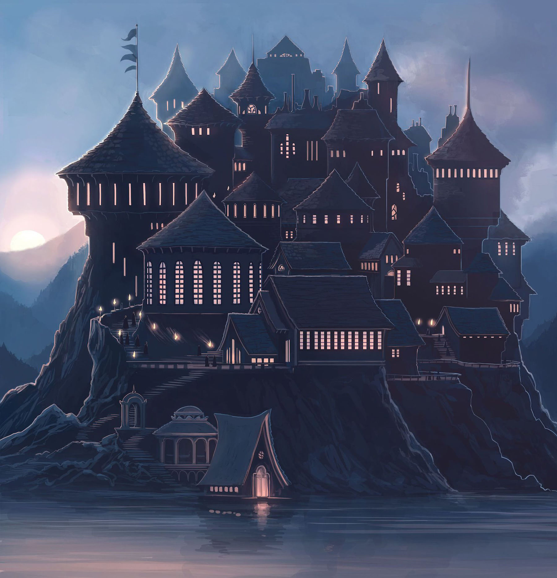 Hogwarts Castle (Kazu Kibuishi illustration)