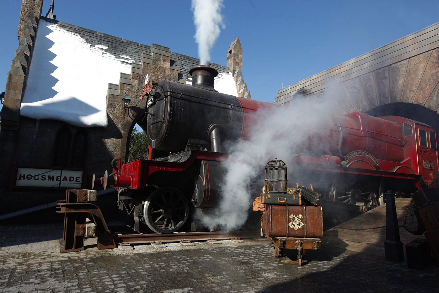 The Hogwarts Express at the 'Harry Potter' theme park