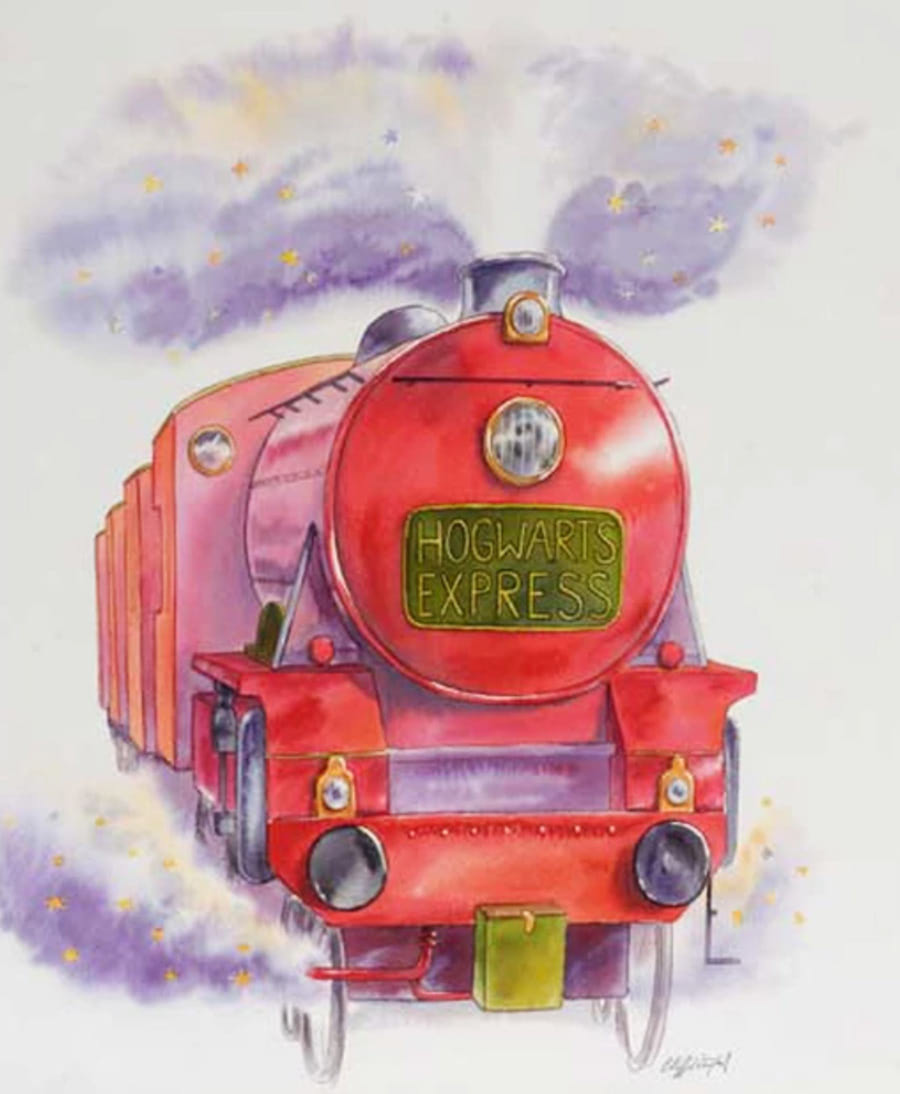 Hogwarts Express (Cliff Wright illustration)