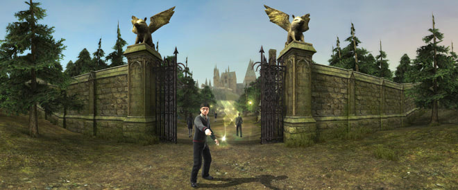 Hogwarts gates (Half-Blood Prince video game)