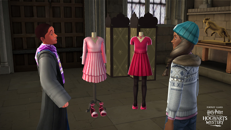 Valentine's Day outfits ('Harry Potter: Hogwarts Mystery')