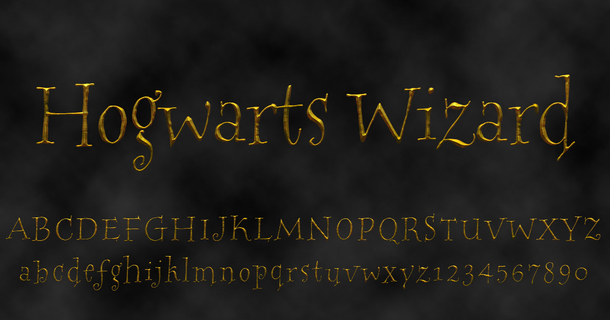 Download free 'Hogwarts Wizard' font