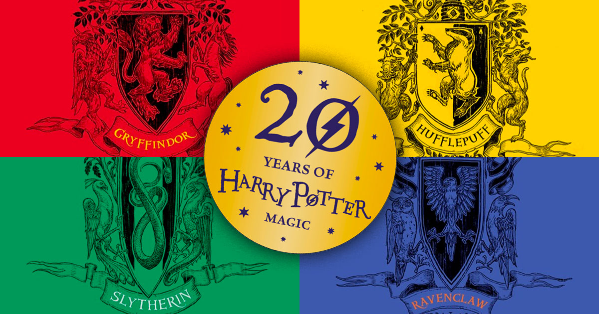 Hogwarts 20th anniversary house editions
