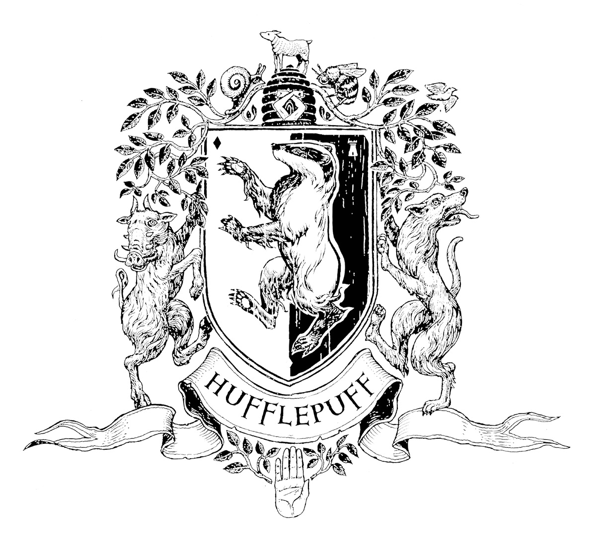 Hufflepuff Crest (house editions)
